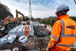 Engineers will double the track between Dyce and Inverurie, carry-out bridge upgrades and deliver signalling enhancements.