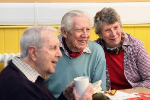 Attendees at a macular support group