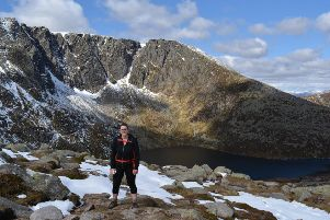 Carolyn McKay on her practice walk at Lochnagar
