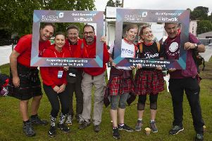 Staff from Johnston Carmichael at the Aberdeen Kiltwalk