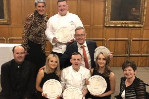 The Newmachar Hotel team, including new head chef Graham Mitchell