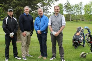 Golfers at the CLAN fundraiser