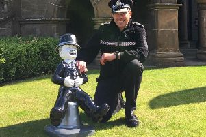 Chief Superintendent Andrew Todd with PC Murdoch