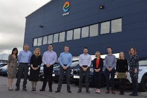 The new members of staff outside eGroup's Kintore base