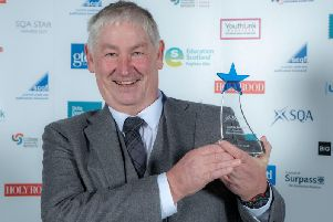 Gordon Gibb of Polaris Learning Ltd with his SQA award