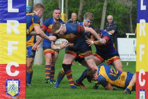 Leamington press for a try late on. Pictures: Morris Troughton