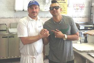Nick Phedon with Sean Paul