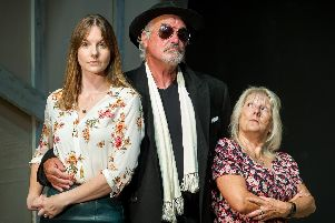 Esther Taylor (Lauren Bell), Stuart Lawson (Jefferson Steel) and Anita Dalton (Mary Plunkett)