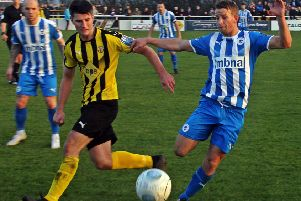 Jack Edwards, seen here in action against Chester, scored Brakes' opener at Alfreton. Picture; Sally Ellis