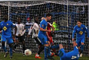 Brakes players put their bodies on the line at Telford. Pictures: Sally Ellis