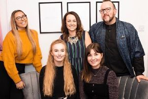 Left to right top row: Jess Evans, Gemma Owen, Clive Bruder; Bottom row:  Ellie Hope, Emma Phipkin. Photo by Kayleigh Pope.