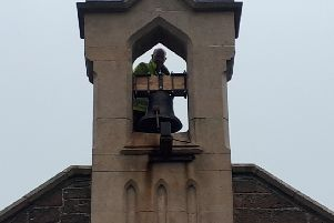 Back in the bell tower at St. John's.