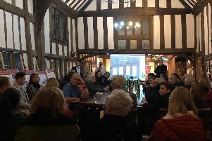 The #Buyin2Warwick meeting at the Lord Leycester Hospital. Photo supplied.