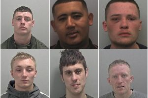 Do you recognise any of these men? Photos supplied by Warwickshire Police.