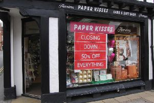 Paper Kisses in Warwick will be closing this weekend. Photo by Geoff Ousbey.