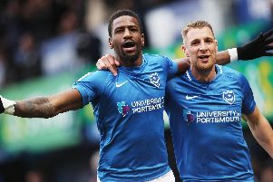 Omar Bogle, left, with Lee Brown