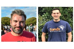 From left, Nick Lang and Peter Moseley, who are set to co-found the Sands United Solent Football team