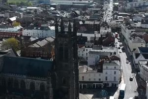 Aerial view of Leamington featured in Daniel O'Donovan's video.