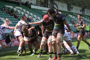 Hooker George Newman scored for the Wanderers (picture: Dave Ikin)