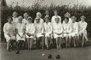 Steyning Bowls Club women members then...