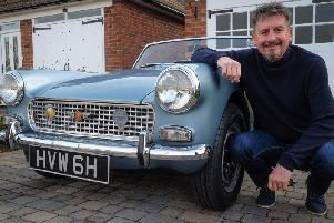 Graham Taylor with his Austin Healey Sprite.