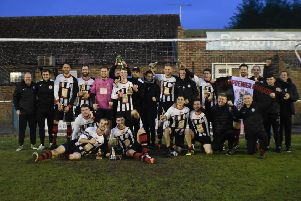 Spilsby Town celebrate. Photo: Darren Trapps.