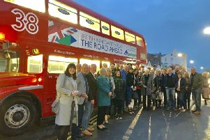 Acorn Fundraisers get a lift of the PGS double decker bus.