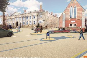 The visualisation of how Northgate will look after the scheme is completed. Photo by Warwickshire County Council.
