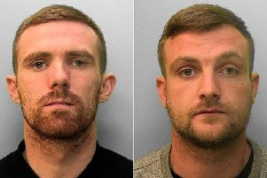 Luca Wright (right), 27, of Cricketfield Road, Seaford, and Christopher Charles Bywaters (left), 31, of The Nurseries, Lewes,