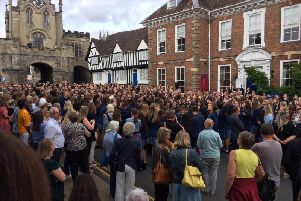 King's High staff, pupils, guests and members of the public gathered in Smith Street for the farewell to the historic site.