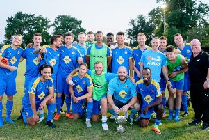 Brakes celebrate their win over Racing Club in 2018.