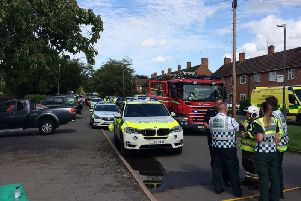 Emergency agencies respond to incident in Kenilworth (photo from Warwickshire Fire and Rescue twitter)