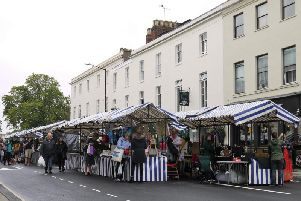 The Covent Garden Quarter Market in Warwick Street in Leamington. Photo by Amanda Stacey
