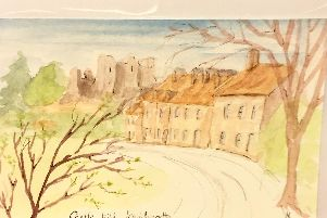 Castle Hill painting by Gillie Carrington
