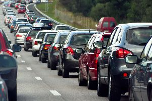 A broken down lorry is causing delays on the M27.
