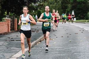Kelly Edwards in action early on at the Balsall Common 10k. Pictures: Claire Keough