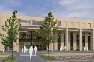 Image of the front of the new Kenilworth School