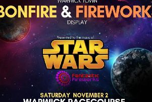 The Warwick Town Bonfire and Fireworks poster. Photo submitted.