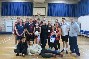 Students and teachers from the Kenilworth School Sixth Form charity netball match