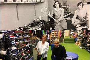 Ray and John Hammond at Warwick Sports. Photos submitted.