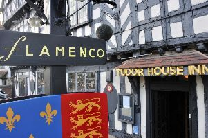 Flameco at the Tudor House Inn building in Warwick