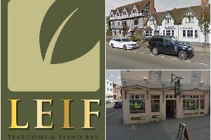 Leif will be opening tonight (Friday) Top right shows the former Vine Inn in West Street where Leif is opening and bottom right shows the Leif in Leamington (both from Google Street View).