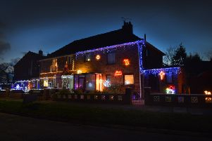 File photo: A house decorated for Christmas