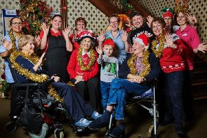 Residents, staff and family at the Kenilworth care home Christmas fayre