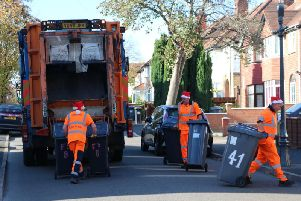 Bin collection dates will change over Christmas