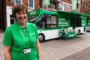 Macmillan information and support specialist Caroline Lewis.