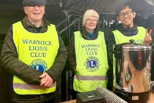 Members of the Warwick Lions Club at one of their events. Photo submitted.