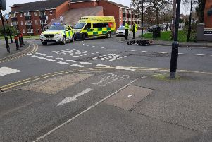 Emergency services were called to the scene. Photo by Mark Poulton