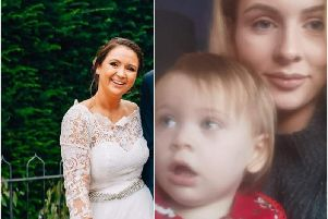 Left shows Elisha Dunkley and right shows Ebony Woodward with her daughter. Photos supplied.