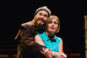 Roger Ganner as Norman and Zoe Mortimer as Ruth. Picture: Sam Allard